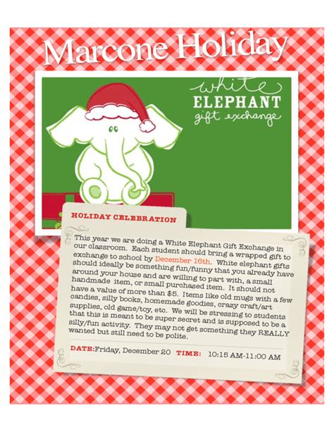 Handmade Mugs white elephant party flyer free download