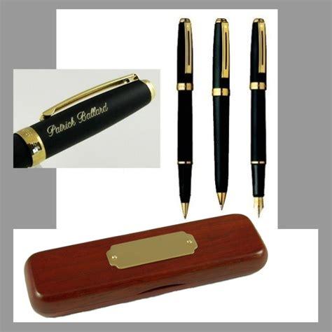 desk pen sets engraved sheaffer prelude black gt gold trim presentation engraved