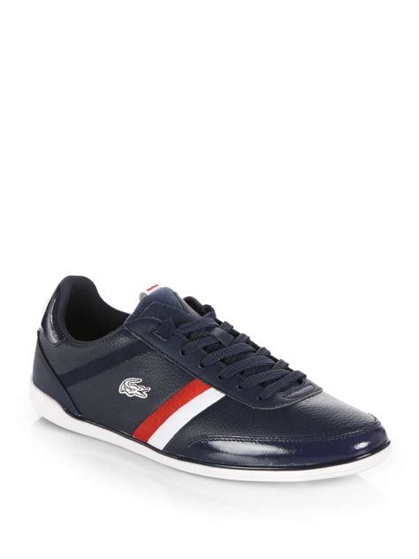 lacoste sneakers mens lacoste giron doublestripe sneakers in blue for