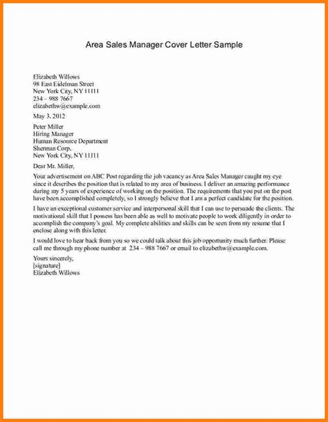Cover Letter Exles Management 9 Application Letter For Sales Manager Ledger Paper