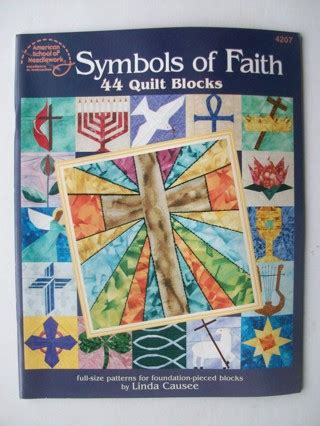 Quilt Symbols by Free Quilting Book Symbols Of Faith 44 Quilt Blocks Sewing Listia Auctions For Free