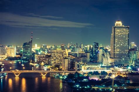 Di Bangkok Bangkok Di Notte Scaricare Foto Gratis