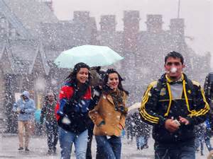 in india today shimla gets snowfall of the season winter chill