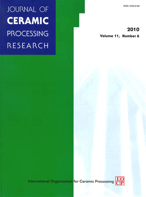 Research Letters In Materials Science Abbreviation Title Journal Of Ceramic Processing Research