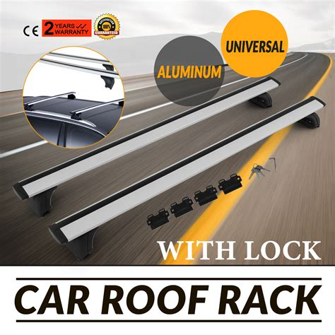 How To Lock A Kayak To A Roof Rack by 2pcs Roof Rack Cross Bar Cargo Luggage With Lock Universal