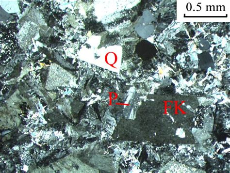 oligoclase thin section granophyre