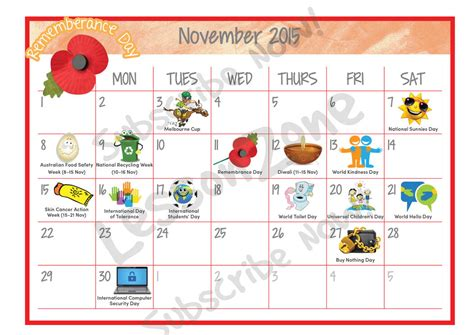 day planner november 2015 november 2015 calendar thanksgiving image king
