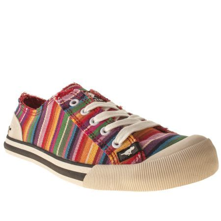 rocket dogs womens yellow rocket jazzin stripe flats schuh