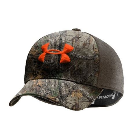 armour realtree camo baseball hat stretch fit cap