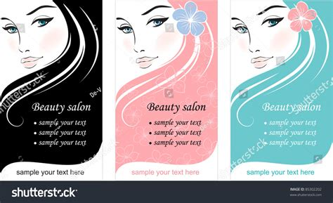 Stylish Face Of Woman With Long Hair Template Design Card Stock Vector Illustration 85302202 Hair Design Templates