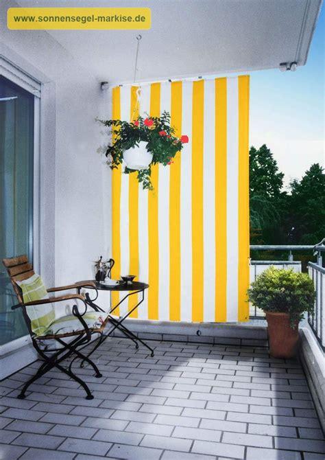 Balkon Seitenschutz sonnenschutz balkon sonnensegel markise