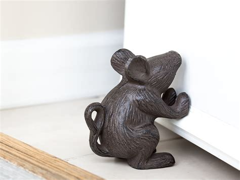 country rustic doorstops galleon cast iron mouse rustic door stop