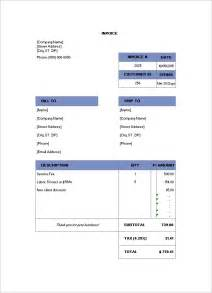 billing invoice templates billing invoice template 6 free printable word excel