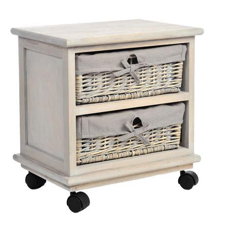 mobili comodini comodino nturale con cesti mobili shabby chic provenzali