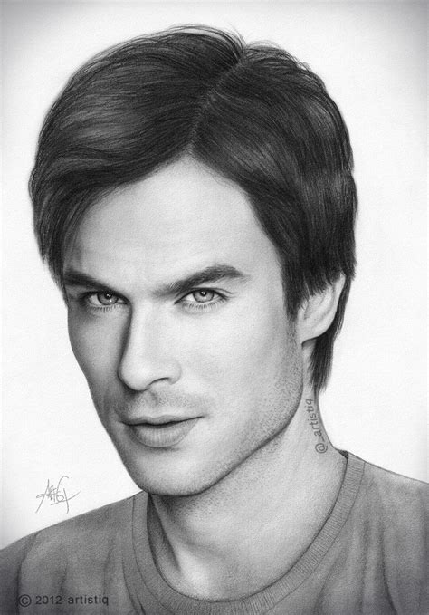 the art of ian ian somerhalder by artistiq me on
