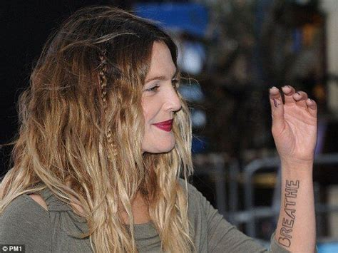 drew barrymore tattoos drew barrymore list inkedceleb