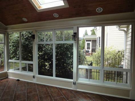 three season room windows this cary nc 3 season room features eze windows these windows a screen on the