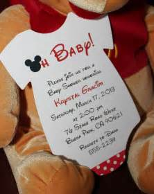mickey mouse onesie baby shower invitation all wording