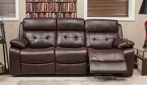 belmont leather sofa belmont reclining 3 seater leather look fabric sofa