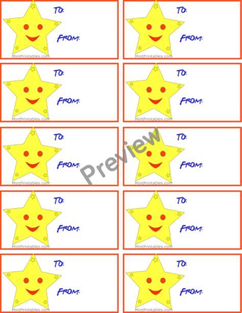 printable star gift tags printable gold star gift tag