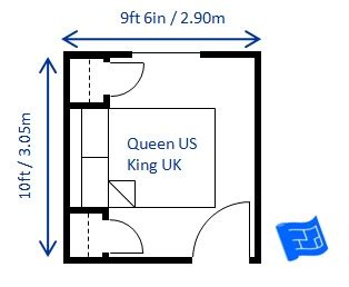 dimensions of bedroom bedroom size
