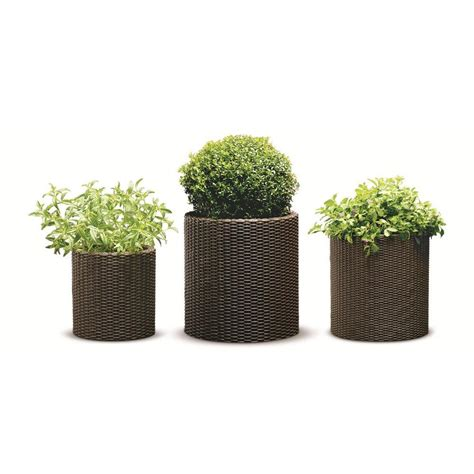 Rattan Planter by Upc 731161037832 Keter Planters Pottery Resin Rattan