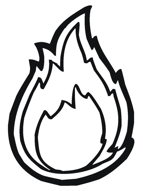 flames template outline clipart best
