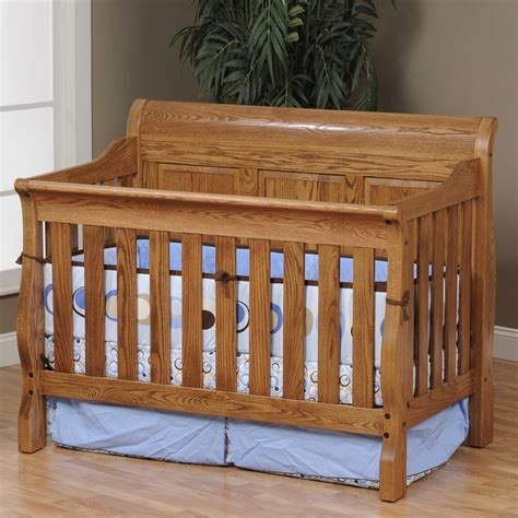 Oak Sleigh Crib by Comfort Jr Csc Panel Traditional Panel Sleigh Crib