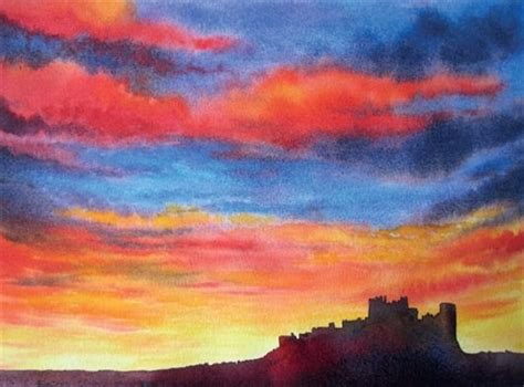 water color sunset how to paint a vibrant sunset in watercolour with gwen