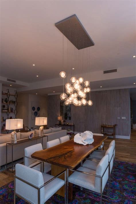 kadur chandelier over dining room table custom blown 17 best images about best trends in modern lighting on