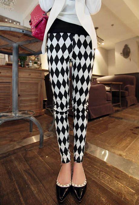 legging wanita import motif kotak kotak model terbaru