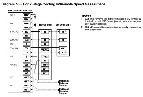 trane baysens019c thermostat wiring diagram 4 wire