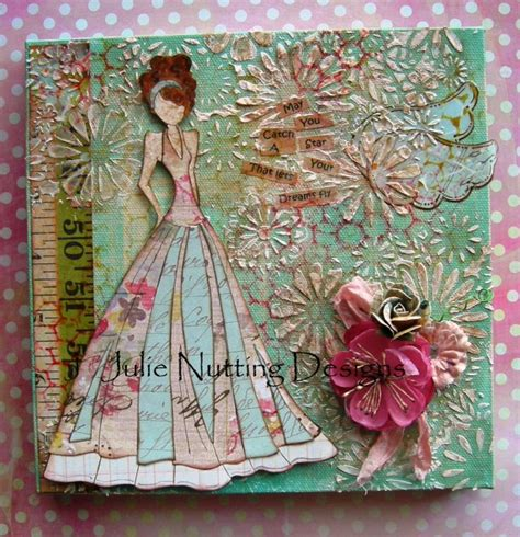 Dolls With Paper - paper doll mixed media canvas with julie nutting
