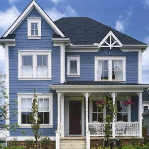 exterior blue paint blue house the home
