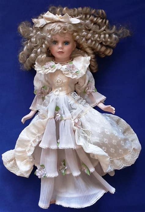 porcelain doll njsf porcelain njsf porcelain doll 43 cm on stand was sold