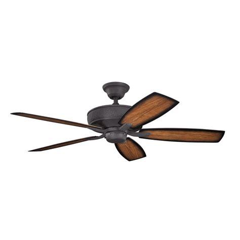 black outdoor ceiling fan kichler 310103dbk monarch ii patio distressed black finish