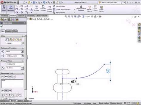 solidworks tutorial youtube 2011 solidworks 2011 tutorial revolves and sweeps part 2 by