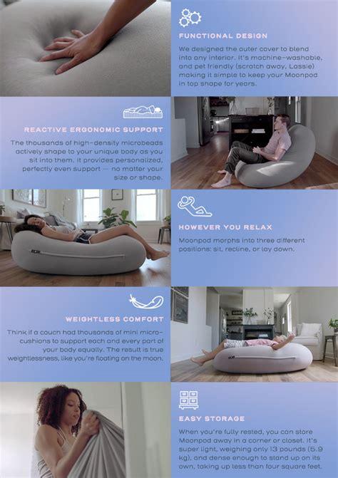 moon pod beanbag   easier  rest  relax