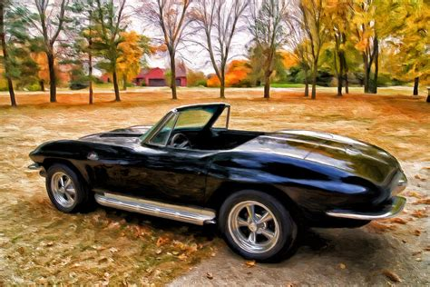 Chevy Home Decor by 66 Corvette Stingray 427 Painting By Michael Pickett