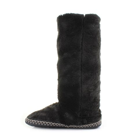 bedroom boots womens grace bedroom athletics grace charcoal faux fur