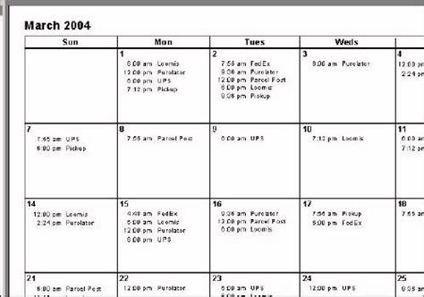 reporting calendar template create a calendar style report