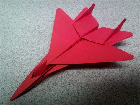Origami Fighter Jet - origami fighter jet by theorigamiarchitect on deviantart