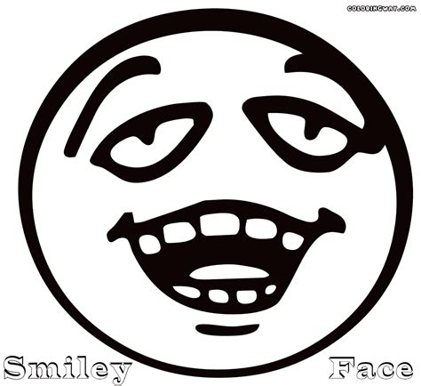 Smiley Face Coloring Pages Coloring Pages To Download Smiley Coloring Page
