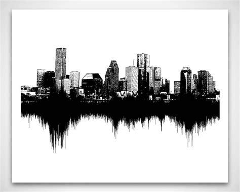 houston skyline tattoo houston skyline sounds of the city sound wave