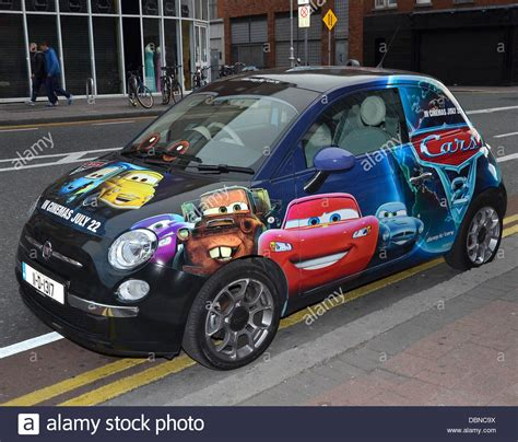 Sprei Cars2 a fiat 500 car painted in pixar and walt disney cars 2