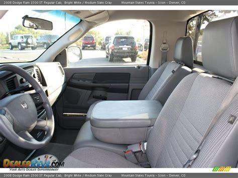 medium slate gray interior 2008 dodge ram 1500 st