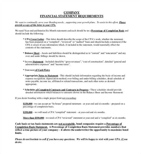 company financial statement template financial statement template 24 free pdf excel word