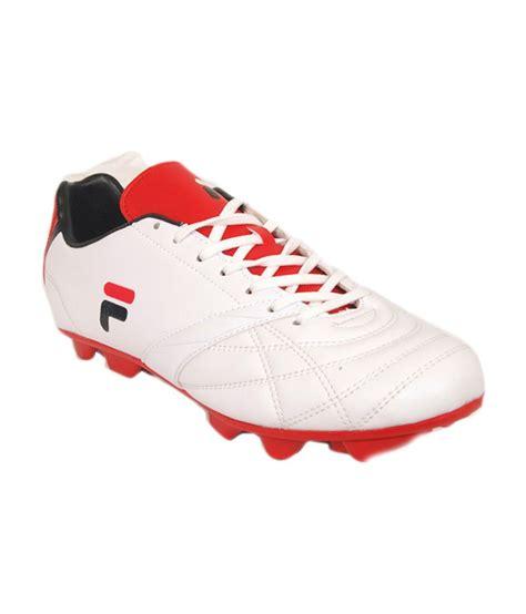 fila football shoes fila white synthetic leather football shoes