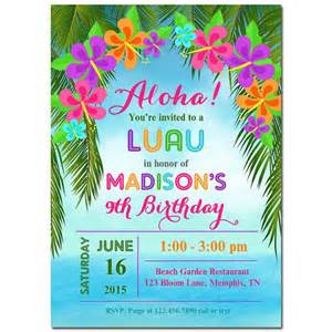 25 best ideas about luau invitations on hawaiian invitations luau birthday