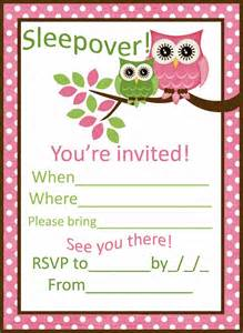sleepover invitation template sleepover invitations xyz